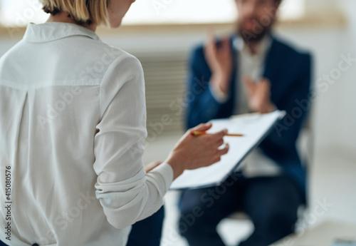 Wallpaper Mural Woman psychologist on all professional diagnostics consultation