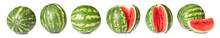 Ripe Watermelons On White Background