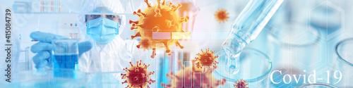 Scientist developing COVID-19 vaccine in laboratory Fototapet