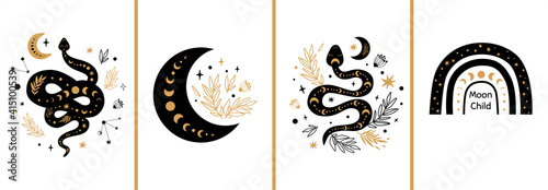 Canvas Print Mystic cards set