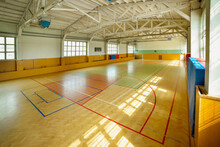 Court In Old Gymhall With Lines On The Ground