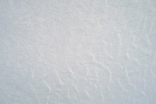 Pattern Of Snow Field Surface