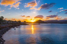 Airlie Beach Bay In Queensland, Australia During Sunset