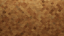 Wood Texture Background. Parquet Wallpaper With A Light And Dark Timber Fish Scale Tile Pattern.