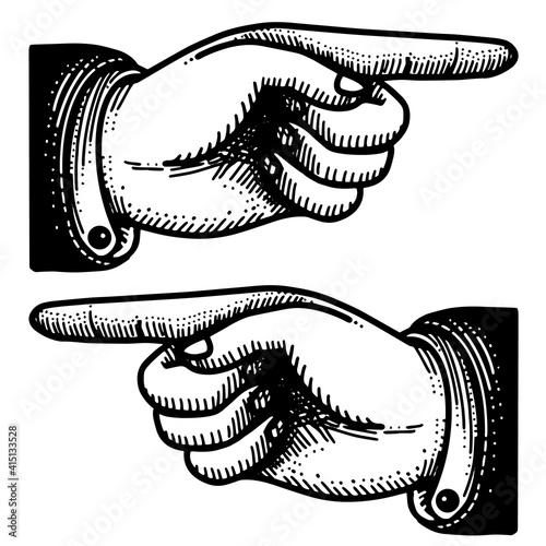 Fotografija Victorian point finger hand vintage icons