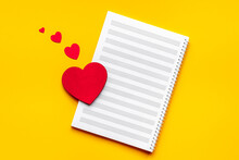 Love Music Concept. Musical Sheet With Heart Shape