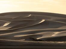 Wind Swept Barkhan Sand Dunes On The Barrier Island Of Isla Magdalena, Baja California Sur