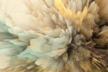 3D digital Illustration. Color rainbow blot splash. Abstract horizontal background.