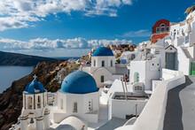 Whitewashed Church, Oia, Santorini, Cyclades, Greek Islands