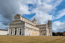 Piazza Del Duomo With Cathedral And Leaning Tower, Pisa, Tuscany