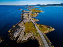 Aerial Of The Atlantic Ocean Road, More Og Romsdal County