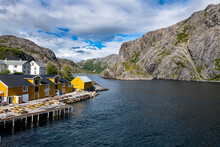 Harbour Of The Little Fishing Village Of Nusfjord, Lofoten, Nordland