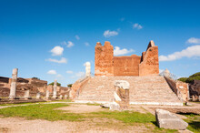Capitolium, Ostia Antica Archaeological Site, Ostia, Rome Province