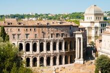Theatre Of Marcellus, Ruins Of Temple Of Apollo Sosianus, Apollo Medicus, Rome