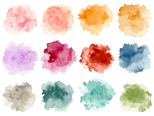Colorful Abstract Watercolor Splash Collection