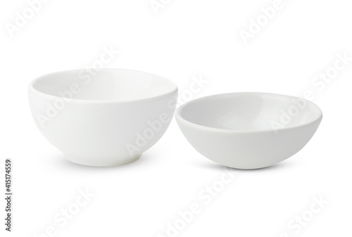 Canvastavla white bowl ceramic  isolated on white background