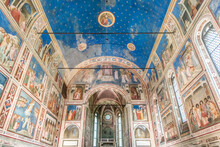 Italy, Padua, Scrovegni Chapel With Frescoes Painted By Giotto In The 14th Century