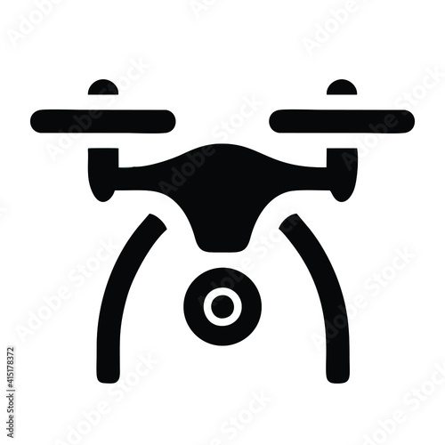 Fotografie, Tablou drone icon isolated on white background from drone elements collection