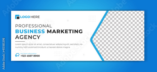 Obraz corporate business facebook cover banner templates design - fototapety do salonu