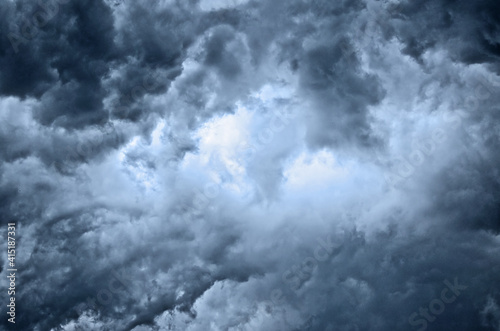 Fototapeta heavy gale black stormy clouds obraz