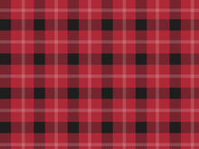 Red Check Plaid  Pattern.  Vector Black And Red Plaid Check Pattern.  Tartan Plaid Pattern.  Scottish Pattern.