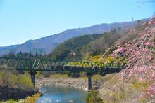 ファミリーオートキャンプ場そうりから見るわたらせ渓谷鉄道