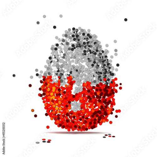 Fototapeta kinder surprise egg made from confetti - pary obraz