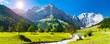 canvas print picture - Panorama Landschaft im Allgäu, Bayern, im Frühling