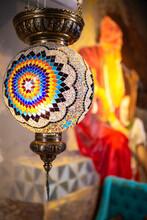 Bright Turkish Chandelier In The Interior