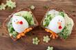 canvas print picture - Belegtes Brot mit Ei