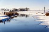 Zima nad rzeką Narew' Podlasie, Polska