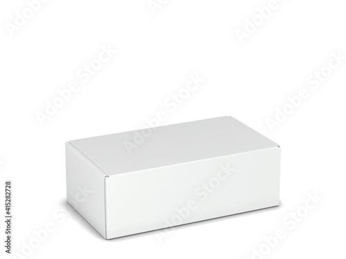 Leinwand Poster Blank tuck in flap packaging box mockup