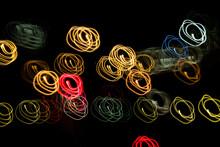 Abstract Light Streak Pattern Circles