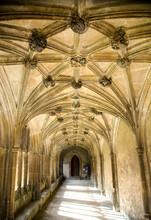 View Of Cloisters At Lacock Abbey, Lacock, Wiltshire, UK