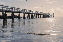 Pier At Sunrise In Queensland