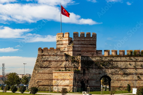 View of Yedikule Fortress in Istanbul, Turkey Fotobehang
