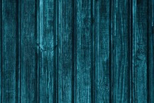 Blue Painted Rough Wood Boards Rustic Texture. Old Shabby Knotted Wooden Planks Dark Vintage Background