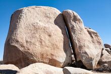 Split Rock In Catavina Boulder Field, Baja California, Mexico