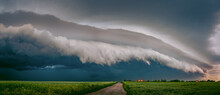 A Wonderful Thundercloud With Lightning In Poland In The Lublin Region