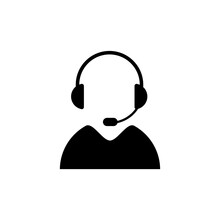 Support Icon Isolated On White Background. Call Center Operator. Online Communication. Vector 10 Eps