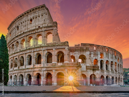 Fototapety, obrazy: Colosseum at sunrise in Rome
