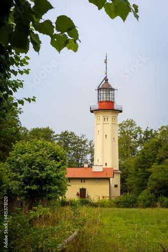 Obraz Lighthouse in Rozewie, Poland - fototapety do salonu