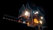 3d Rendered Illustration Of Vintage Cine Camera. High Quality 3d Illustration