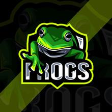 Frog Mascot Logo Esport Template