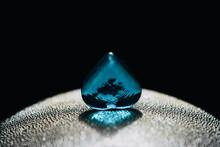Blue Heart Shape Marble