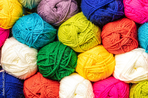 Obraz na plátně crochet and knitting wool and yarn