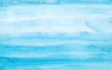 Blue Watercolor Texture. Watercolor Background. Drawn By Hand. For Banners, Posters And Other Designs.