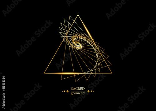 Fotografia, Obraz triangles according to fibonacci series and golden ratio