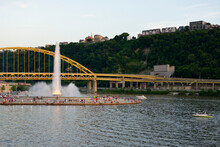 Point State Park And The Fort Pitt Bridge, Pittsburgh, Pennsylvania