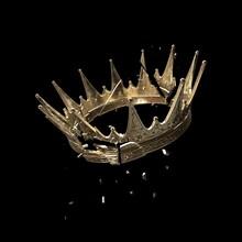 Broken Crown On The Black Background